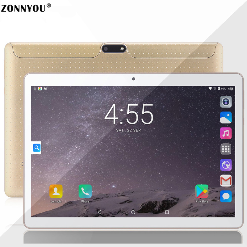 10.1 inch Tablets PC Android 7.0 3G Phone Call Tablet Octa Core 4GB RAM 32GB Dual SIM 5.0MP GPS Bluetooth Wi-Fi Tablet PC(China)