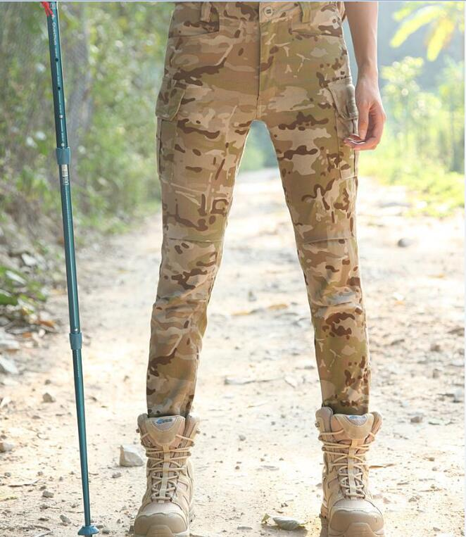 Able Women Military Trousers Camouflage Long Pants Army Combat Pants All Terrain Black Trouser