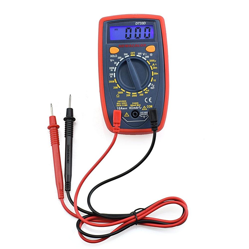 NEWACALOX DT33 LCD Multímetro digital Luz de fondo AC / DC - Instrumentos de medición - foto 2
