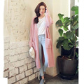 Casual Knitted Women Long Cardigan With Pockets Ladies Body Tops Autumn Winter Sweater 2016 New Fashion Cardigan