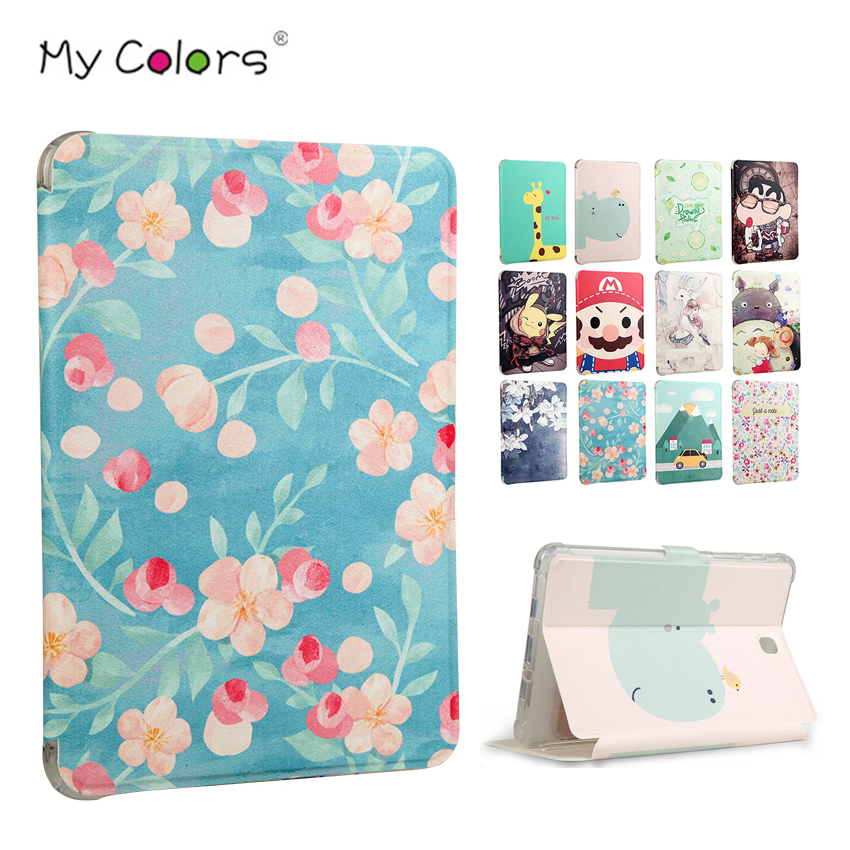 Tab S2 T710 Tablet Case Cover Slim PU Leather Print Funda for Samsung Galaxy Tab S2 8.0 T719 T715 T710 8'' Protective Stand Skin new x line soft clear tpu case gel back cover for samsung galaxy tab s2 s 2 ii sii 8 0 tablet case t715 t710 t715c silicon case