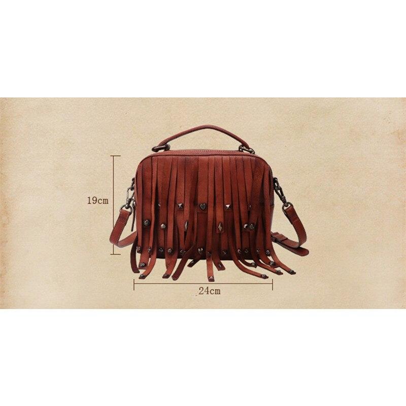 Gland Mode Sac Main Bjyl De bourgogne Sacs Nouveau Femmes Bandoulière marron Rétro rouge Rivet Noir 2018 Vintage Luxe Épaule Véritable Messager Cuir prune À TcJlK1F3