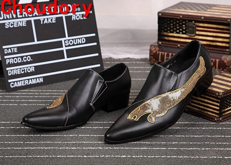 On Sapatos De Couro Elegantes Picture as Vestido Handmade Slip Dos Verão Homens Baile Loafers Toe Picture As Sapatas Finalistas Apontou Do Choudory SqwpAgxYp