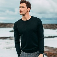 Autumn Trend Men Sweater White Pink Gray Color Solid Pullovers For Man Fashion Slim Fit Clothing 2019 Male Wear Knitwear Tops