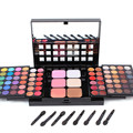 78 Full Color Matte Shimmer Da Paleta Da Sombra Profissional Sombra Blush Lip Gloss Maquiagem Conjunto Para As Mulheres de Beleza Cosméticos