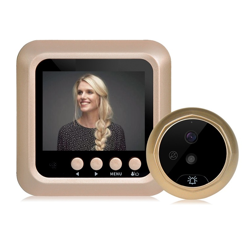 Doorbell Wireless Call Video Eye Door Peephole 2.4 Inch TFT LCD IR Night Vision Photos Take Video Record Video Peephole Max 32GB