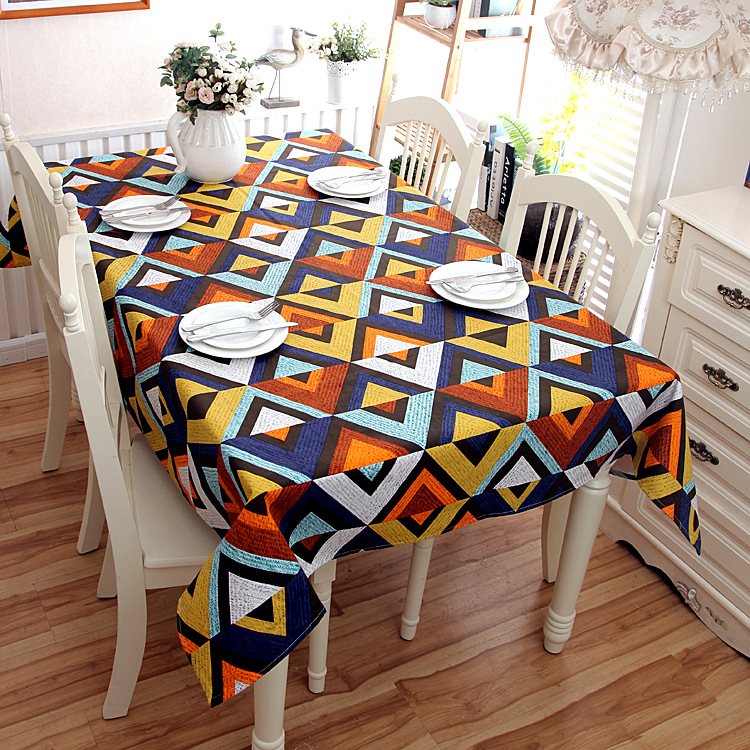 Modern Simple Cotton Thickening Canvas The Geometric Shape Of Triangle V Table Cloth Cover Towels In Tablecloths From Home Garden On Aliexpress