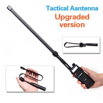 2019 CS Tactical Antenna SMA-Female Dual Band VHF UHF 144/430Mhz Foldable For Walkie Talkie Baofeng UV-5R UV-82 UV5R pofung uv82 cutting tool