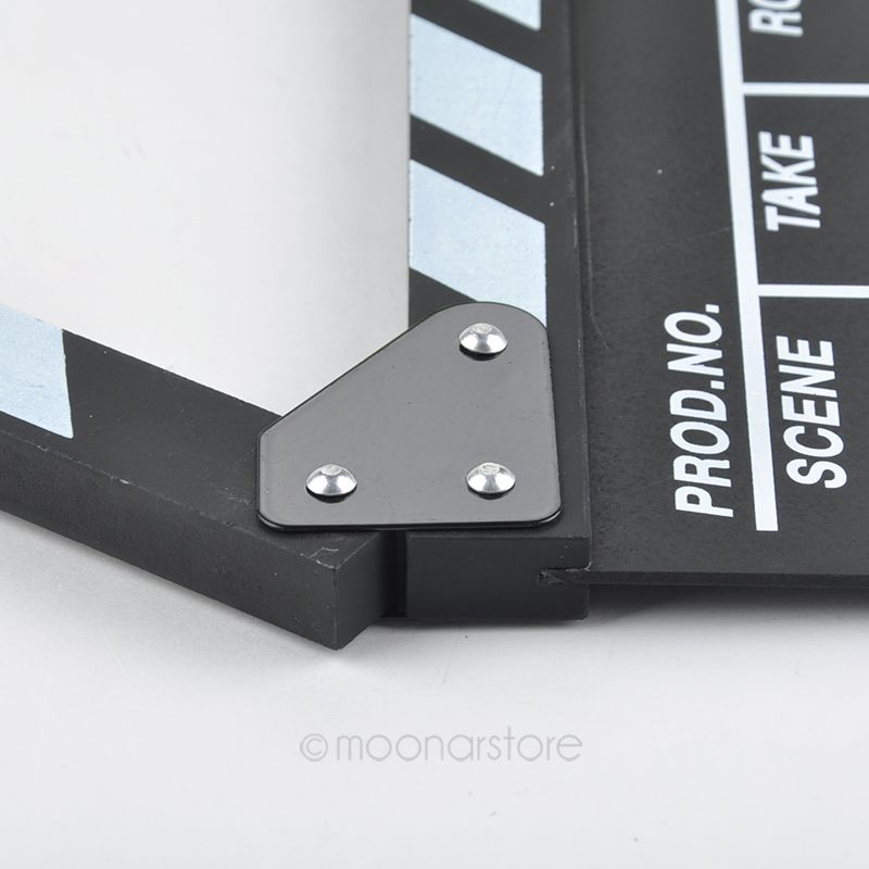 Image 5 - New hot Arrivel Cute Classical Director Video Clapper Board Scene Clapperboard TV Movie  Film Cut Prop zx*DA1144#c3-in Photo Studio Accessories from Consumer Electronics