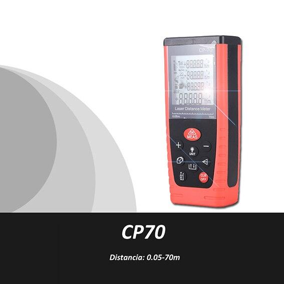ФОТО Trena Metro laser, Medidor Metro Distancia Laser,0.05-70m, Medidor volumen laser,medidor area laser, Cinta Metrica, CP70