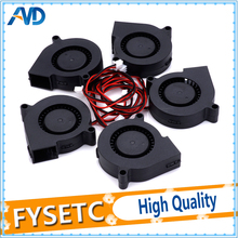 5pcs 12V DC 5015 50x50x15mm Blow Radial Cooling Fan for Electronic 3D Printer