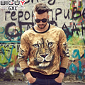 Lion Printed 3d Sweatshirt Men 2016 Autumn New Fashion Plus Size 3XL 4XL 5XL 6XL Male Thrasher Sweatshirts 1037
