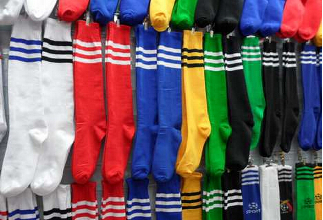 authentic new high quality great deals US $119.97 7% OFF|Adult Football Socks High Elastic Striped Soccer Socks on  AliExpress