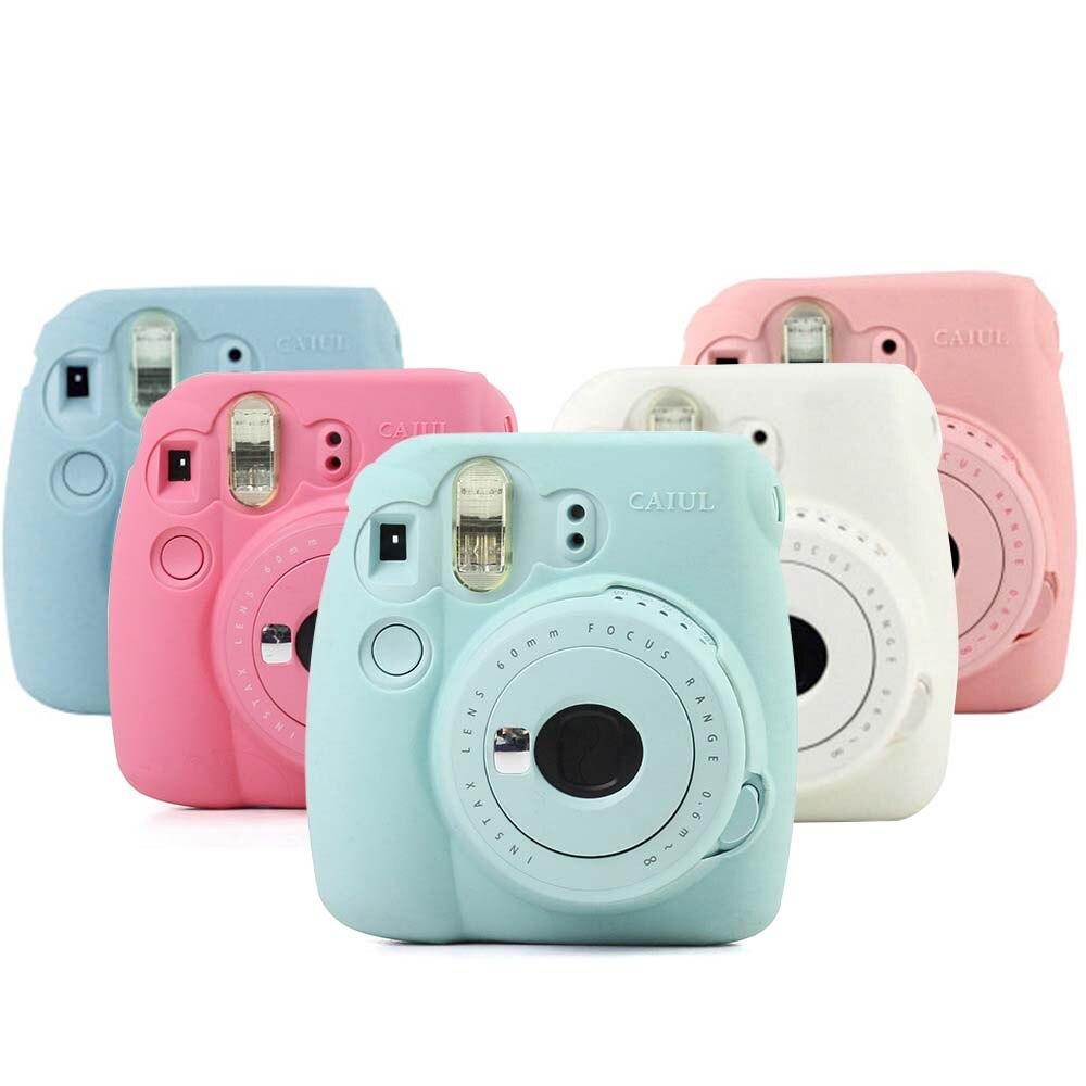 Housse de protection En Silicone pour Fuji Mini 8 mini 8 s mini 9 Doux Caméra Sac de couverture pour Fujifilm Instax Mini 8 8 + 9