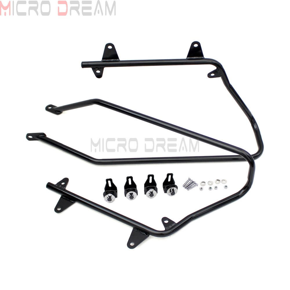 Motorcycle Saddlebag Support Brackets Rear Conversion Holder Kit For Harley Softail 1986 2013 Fat Boy Deluxe Springer Breakout in Covers Ornamental Mouldings from Automobiles Motorcycles