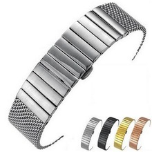 18mm 20mm 22mm 24mm Stainless Steel Milanese Watch band Strap Bracelet Watchband Wristband Butterfly clasps Black Silver Gold все цены
