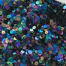 2000 шт(10 г) AB черные блестки 4 мм Плоская Круглая ПВХ тесьма с пайетками для шитья свадебного ремесла, материал для вечерних развлечений