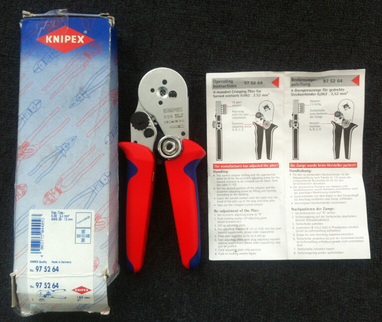 Germany Knipex KNIPEX 975264 Four Spindle Crimping Pliers Spot Made In Germany