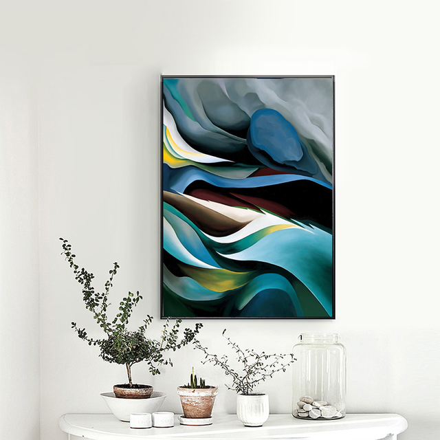 Abstrakte Moderne Leinwand Malerei Fantastische Große Wolken Weltberühmten  Poster Wandkunst Bild Für Dekoration Museum Ungerahmt LZ881
