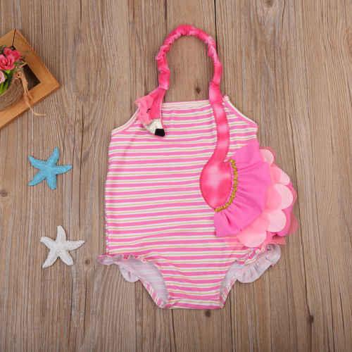 Детские летние лебединые купальники для девочек; Лидер продаж; Детские Купальники-бикини с вышивкой Фламинго; Купальники для детей 2-7 лет; uk