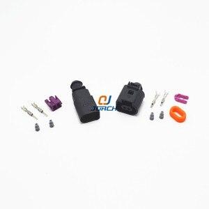 1 set 2 Pin 1.5mm 1J0973802/1J0973702 Auto Temp sensor plug vw deflation valve connector waterproof Electrical Wire connectors(China)