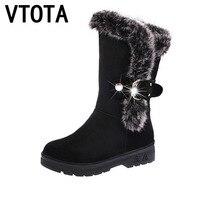 VTOTA Women Boots 2017 Snow Boots High Heels Shoes Woman Botas Mujer Women Winter Boots Wedges
