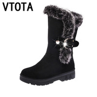VTOTA Women Boots 2017 Snow Boots High Heels Shoes Woman Botas Mujer Women Winter Boots Wedges