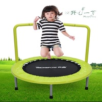 36 Kid's Mini Exercise Trampoline Portable Trampoline with Handrail and Padded Cover