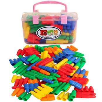 60pcs DIY Assembled Preschool Building Blocks Simulation Bullet Building Blocks Educational Toys for Children