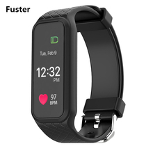 Фустер L38I Bluetooth Smart brecelet динамического сердечного ритма Мониторы полноцветный TFT-LCD Экран smartband для iPhone Samsung Телефоны