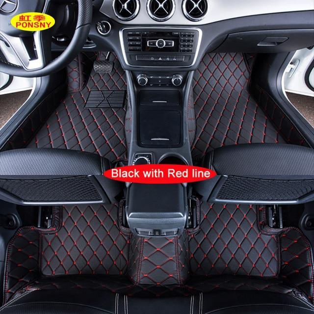 Ponsny Custom Car Floor Mats Specially For Mercedes Benz Gla200 Gla220 Glc260 Customized Foot Rugs Auto