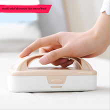 Multifunctional two-wheel electrostatic clothing hair removal dust cleaning brush bed suction sticky