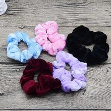 5Pcs/Lot Elastic Hair Bands Soft Hair Scrunchie Ponytail Grip Loop Holder Stretchy Hair Band Kids Hair Accessories Random Color(China)