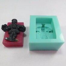 Gel de silicon Frankenstein săpun mucegai mucegai mucegai de Halloween sapun matrite orangutan silicon matrite manual pentru săpunuri