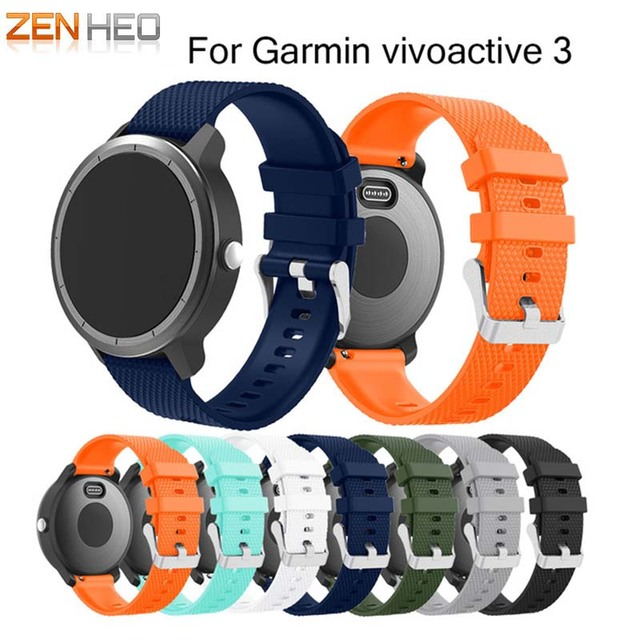 גומי רך סיליקון צבעוני רצועת תחליף Garmin vivoactive3 Vivoactive חכם צמיד רצועת השעון רצועת עבור GARMIN 3