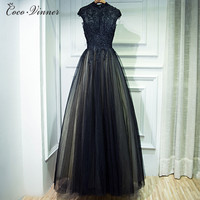 C V 2017 New Black Evening Dress Banquet Women Annual Meeting Of Company One Piece Dress