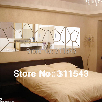 US $10.99 |3D mirror acrylic three dimensional wall stickers for bathroom  decoration,ofhead wall stickers girls bedroom mirror decor M006-in Wall ...