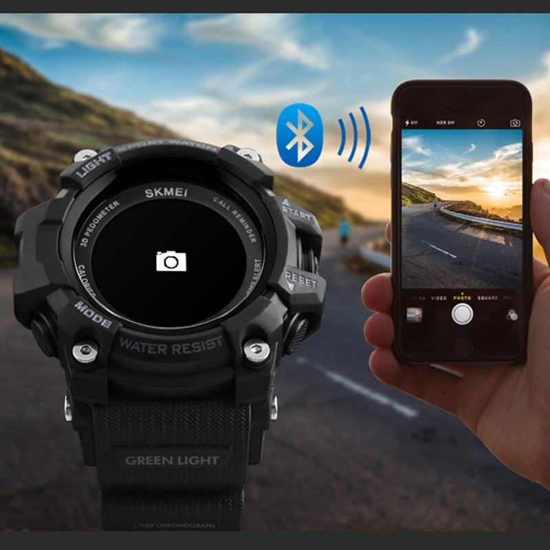 Smartwatch Rechargeable Bluetooth Pedometer Calorie Heart Rate Military Sports Watches Men Digital Wristwatch reloj hombre SKMEI все цены