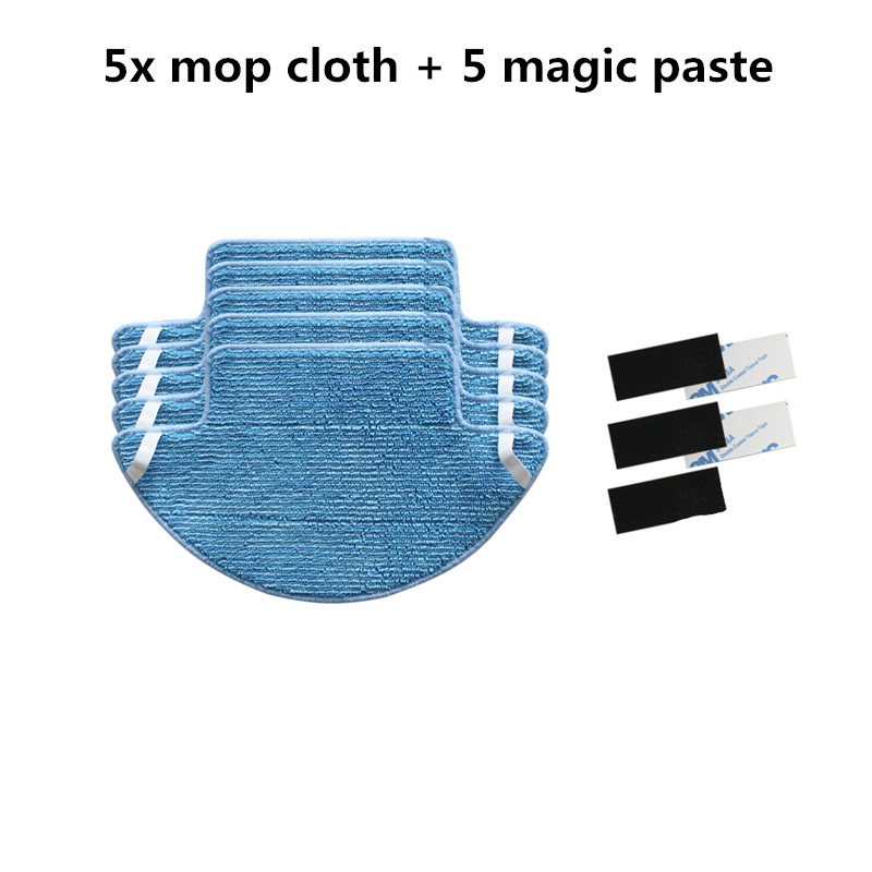 5x Robotic Mop Cloth and 5x Magic Paste for Redmond RV-R100 rv r100 Robot Vacuum Cleaner Parts obaku часы obaku v178gxclmc коллекция mesh