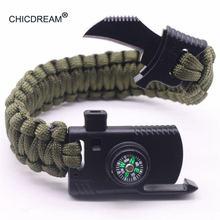 Многоцветный Плетеный браслет для мужчин и женщин многофункциональный