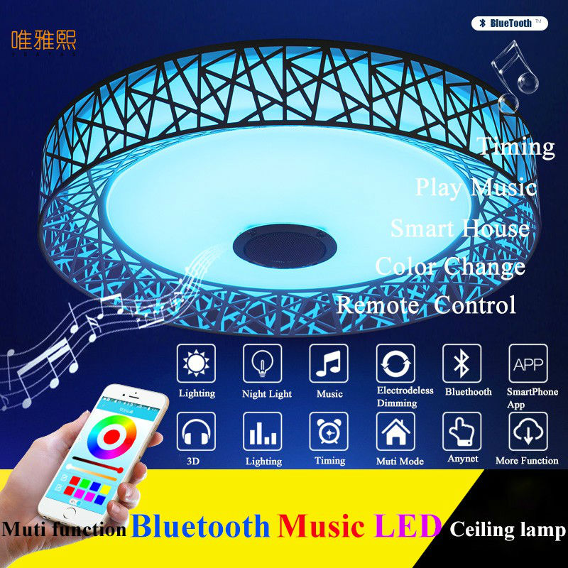 bluetooth Ceiling Lights For Indoor Lighting led music Ceiling Lamp Fixture For Living Room Bedroom Lam
