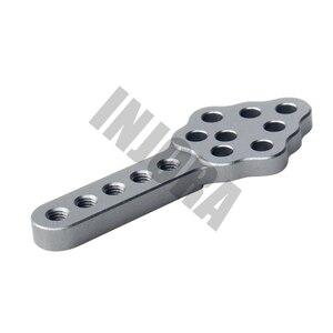 Image 5 - INJORA support damortisseur en métal, support dangle réglable à la hauteur, pour voitures à chenilles RC Axial, SCX10 CNC D90 D110, 4 pièces 90046