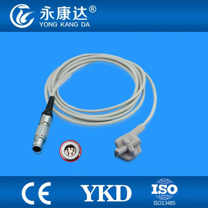 Compatible Goldway pediatric soft tip SpO2 Sensor 3m,5pins