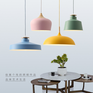 Image 5 - Lampe suspendue au design nordique, ampoules E27, idéal pour un Restaurant, un café, un Bar ou un macaron