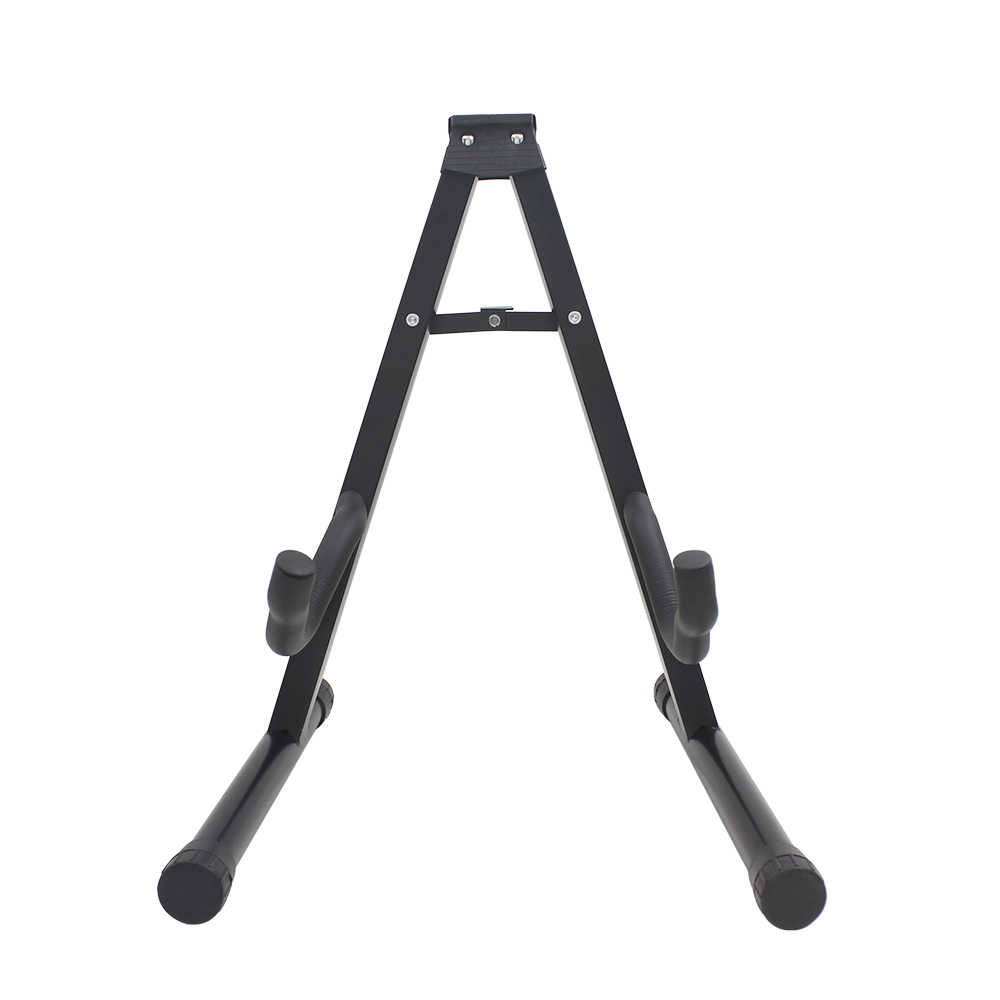 High Quality Guitar Floor Stand Holder Black Square Steel Pipe Electric Guitar Accessories Bass Acoustic Guitar Holder Stand