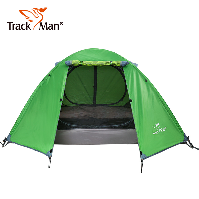 Trackman 2 Person Camping Tent Double Layers Aluminum Rod 3 Season Outdoor Hiking Travel Play Tent
