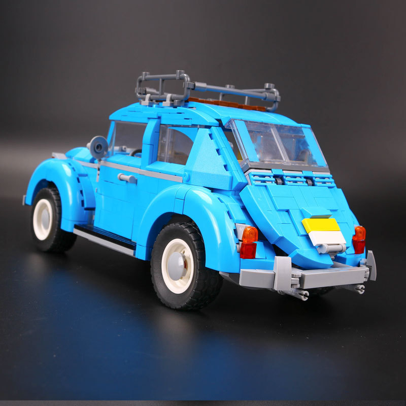 2017 LEPIN 21003 Genuine Techinc Series City Car Volkswagen Beetle model Assembling Building Blocks Compatible Toy 10252 new lepin 21003 series city car beetle model educational building blocks compatible 10252 blue technic children toy gift