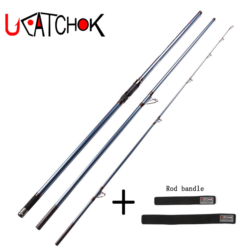 UCOK 1pcs/pack 4.2M surf carp fishing rod long casting far shot super hard power distance throwing anchor rod offshore Beach rod 1pcs pack 4 5m telescopic rod long casting far shot fishing pole high carbon rod hard body strong sea rod anchor hook rod tackle