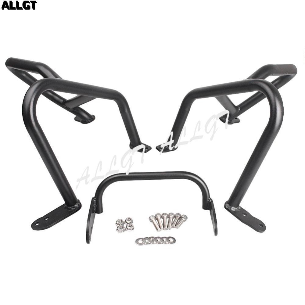 ALLGT Lower Crash Protection Bars Engine Guards upon for BMW R1200GS 2013 2014 2015 Silver