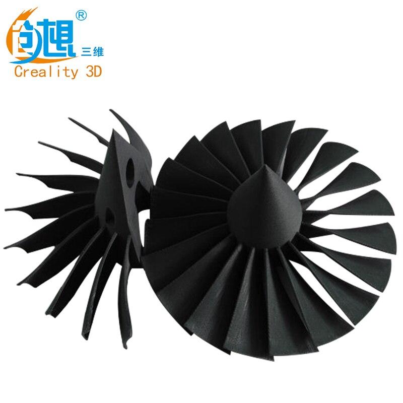 Creatity 3D 1 kg/rouleau 1.75 MM CF carbon fiber AINSI Fondé sur PLA Filament pour FDM CR-10 S4 s5 Ender 3 série 3D Matériel D'impression